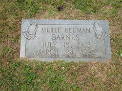 Merle <i>Redman</i> Barnes