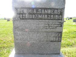 Rev Harry Aaron Sanders