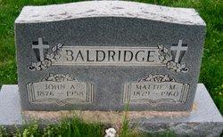 John A Baldridge