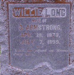 Willie <i>Long</i> Armstrong