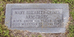 Mary Elizabeth <i>Grimes</i> Armstrong