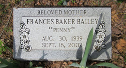 Frances Rue Penny <i>Baker</i> Bailey
