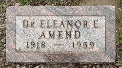 Dr Eleanor Electa Amend