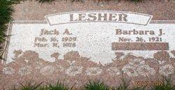 Jack A Lesher