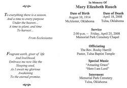 Mary Elizabeth <i>Mitchell</i> Rauch