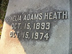 Cornelia <i>Adams</i> Heath