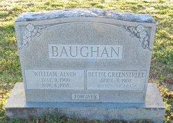 Willie Bettie <i>Greenstreet</i> Baughan