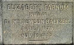Elizabeth L <i>Farnum</i> Baltzell