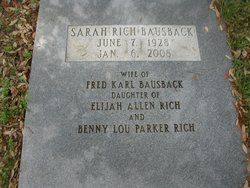 Sarah <i>Rich</i> Bausback