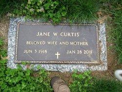 Jane <i>Wright</i> Curtis