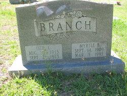 Myrtle <i>Buford</i> Branch