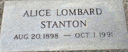 Alice Lombard Stanton