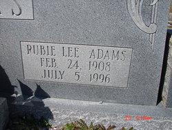 Rubie Lee Adams