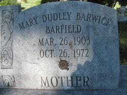 Mary Dudley <i>Barwick</i> Barfield