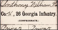 William H Anthony