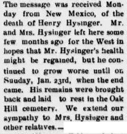 Henry Hysinger