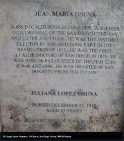 Maria Juliana Josefa <i>Lopez</i> Osuna
