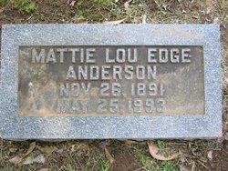 Mattie Lou <i>Edge</i> Anderson