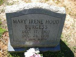 Mary Irene <i>Hood</i> Burgess