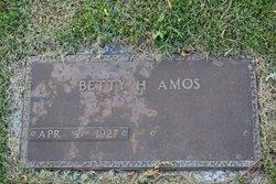 Mrs Betty H. <i>Hill</i> Amos