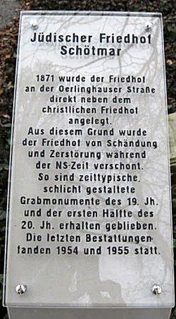J�discher Friedhof Bad Salzuflen-Sch�tmar