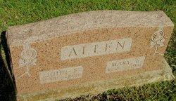 Mary Emma Mollie <i>Hinch</i> Allen