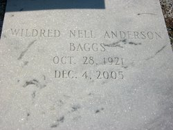 Wildred Nell <i>Anderson</i> Baggs