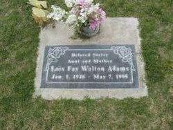 Lois Fay <i>Walton</i> Adams