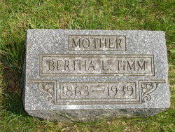 Bertha Caroline Louise <i>McKale</i> Timm