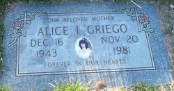 Alice I Griego