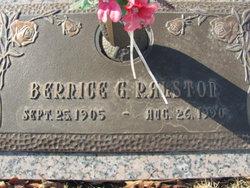 Bernice G <i>Wyrick</i> Ralston