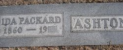 Ida <i>Packard</i> Ashton