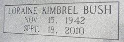 Loraine <i>Kimbrel</i> Bush