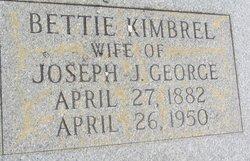 Bettie <i>Kimbrel</i> George
