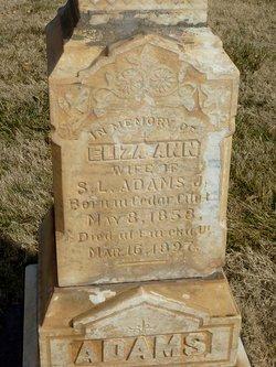Eliza Ann <i>Haight</i> Adams