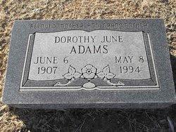 Dorothy June <i>Auld</i> Adams