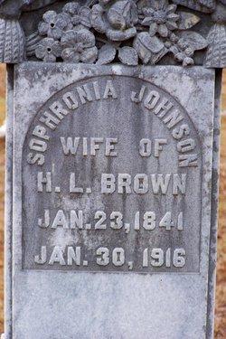 Sophronia <i>Johnson</i> Brown