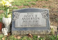 Janice D <i>Byers</i> Anderson