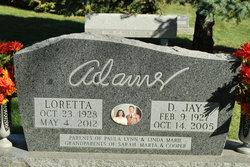 Loretta B <i>Warehime</i> Adams