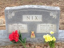 Alice Velma <i>Fielder</i> Nix