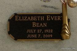 Elizabeth Mae Liz <i>Evert</i> Bean
