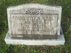 Isabel <i>Peyton</i> Adams