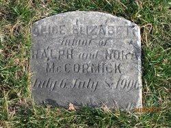 Alice Elizabeth McCormick