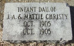 Infant Daughter Christy