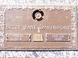 Betty Jane Davenport