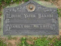 Louise <i>Yater</i> Barnes