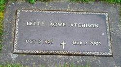Betty <i>Rowe</i> Atchison