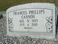 Frances <i>Phillips</i> Cannon