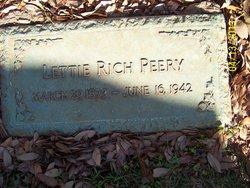 Letitia A Lettie <i>Rich</i> Peery