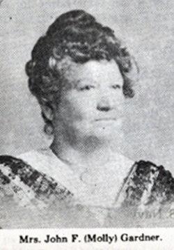 Mary Elizabeth Mollie <i>Garner</i> Gardner